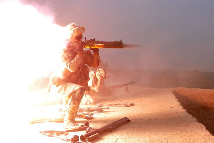 A member of the 1st Battalion, Royal Canadian Regiment fires a M72 LAW at insurgents, 28 October 2010