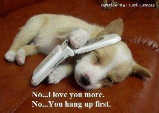 You hang up first