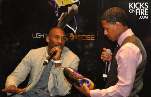 Kobe Bryant being interviewed by Nick Cannon