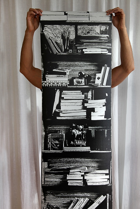 To all booklovers... Besserwisser Solo Wallpaper is only one lenght 45 cm by 270 cm.