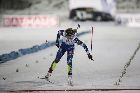 05.12.2015, Oestersund, Sweden (SWE):Marie Dorin (FRA) - IBU world cup biathlon, sprint women, Oestersund (SWE). www.nordicfocus.com. © Manzoni/NordicFocus. Every downloaded picture is fee-liable. NordicFocus