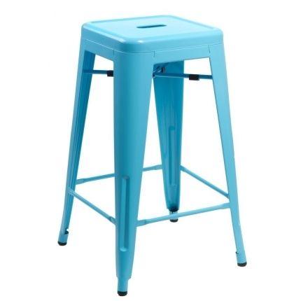 Barová židle Tolix 66, modrá