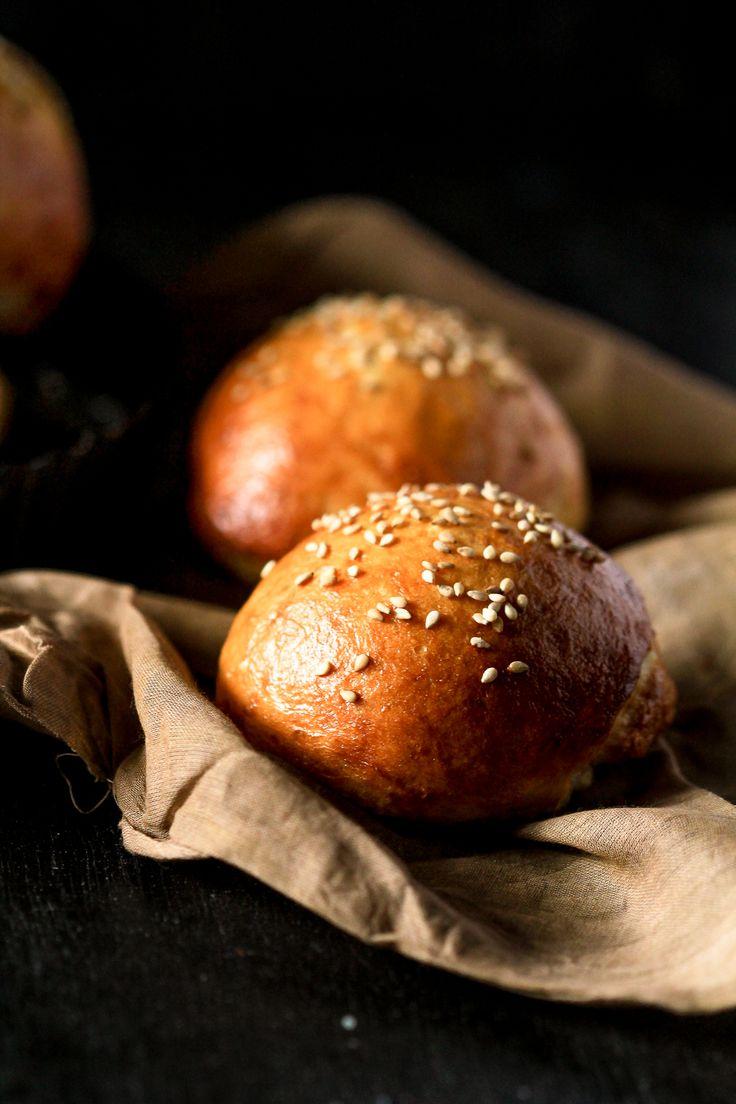 Pretzel buns | Food | Pinterest