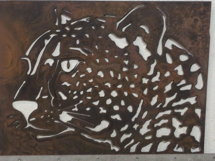 12 X 16 Cheetah Wall Hanging Cut Out On Our Plasma Machine