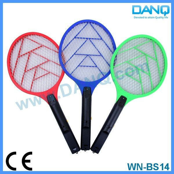 Three layers fly zapper, bug zapper, mosquito swatter, mosquito racket with CE-EMC