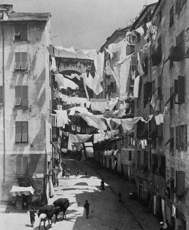A windy day in Genova. 1885