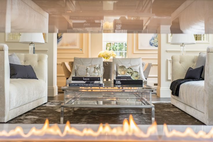Fire Line Automatic 3 #fireplace, Princes Gate, UK, Design by Maybria Group , www.planikafires.com  #design #interior #decor