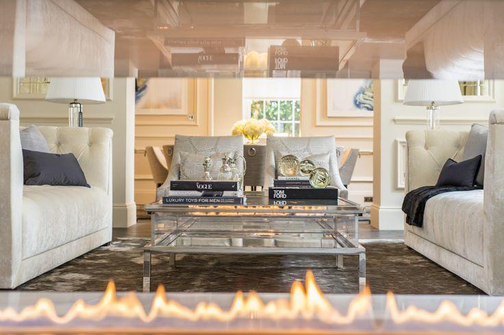 Fire Line Automatic 3 #fireplace, Princes Gate, UK, Design by Maybria Group , www.planikafires.com  #design #interior #decor