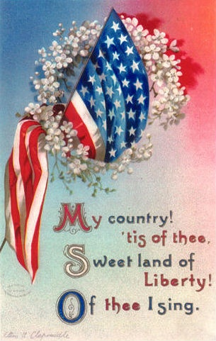 My country, 'tis of thee, Sweet land of liberty, Of thee I sing. #American