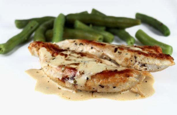 Chicken with Mustard Cream Sauce | Chicken Dishes | Pinterest