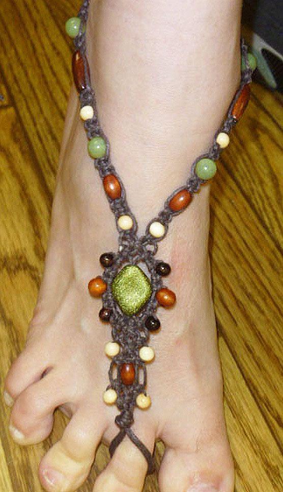 Brown Hemp Barefoot Sandals   handmade by sherrishempdesigns, $25.99
