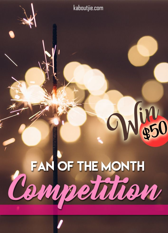 Winning $50 has never been easier. This is an awesome monthly competition that I run on my mommy blog.   All you have to do to enter into the latest Fan Of The Month Competition is comment on any of my blog posts. The more engaging and relevant your comment the better your chances of being my next Fan Of The Month!   #KaboutjieFOTM #FanOfTheMonth #Win$50 #WinCash #Win #Competitions