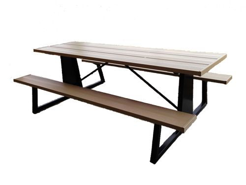 beautiful steel picnic table from premier picnic tables they can do custom logo laser cutting are ada compliant and are no tipping