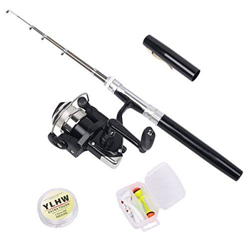 Walsilk Mini Ice Fly Fishing Rod and Reel Combos for Kids,38 inches Aluminum Alloy Mini Pocket Pen Rod Set for Birthday,Festival,Christmas  https://fishingrodsreelsandgear.com/product/walsilk-mini-ice-fly-fishing-rod-and-reel-combos-for-kids38-inches-aluminum-alloy-mini-pocket-pen-rod-set-for-birthdayfestivalchristmas/  Ice Fly Fishing Pole: Extended Length: Approx 38 inch,suitable for fishing from a boat, a dam or on ice. Mini Pen Fishing Pole: Pen-sized fishing rod for situ