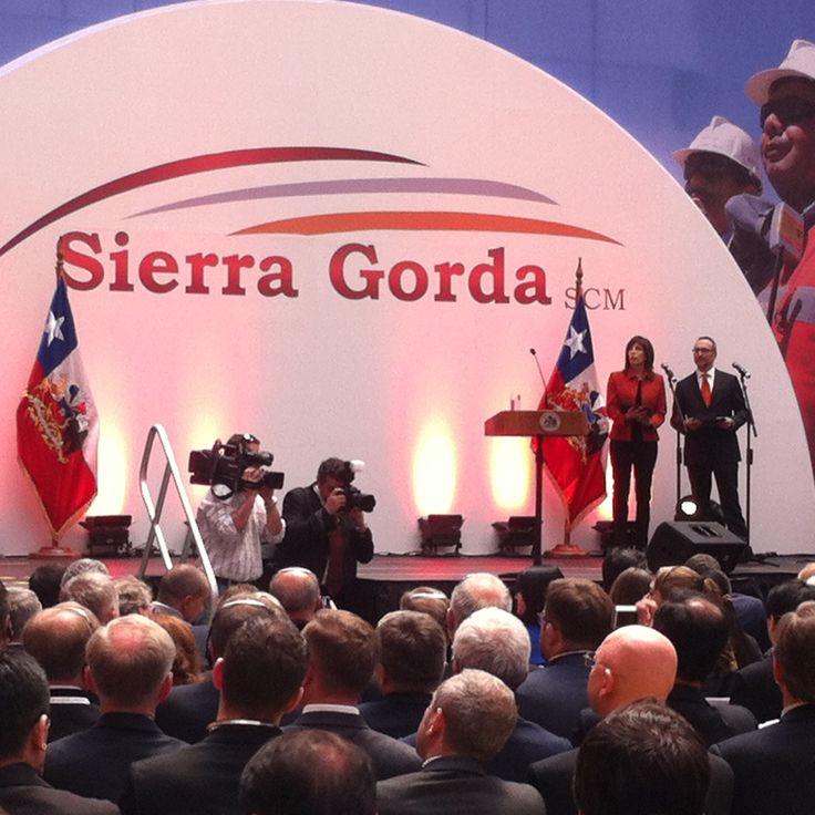 RTM en inauguración Minera Sierra Gorda-Octubre del 2014