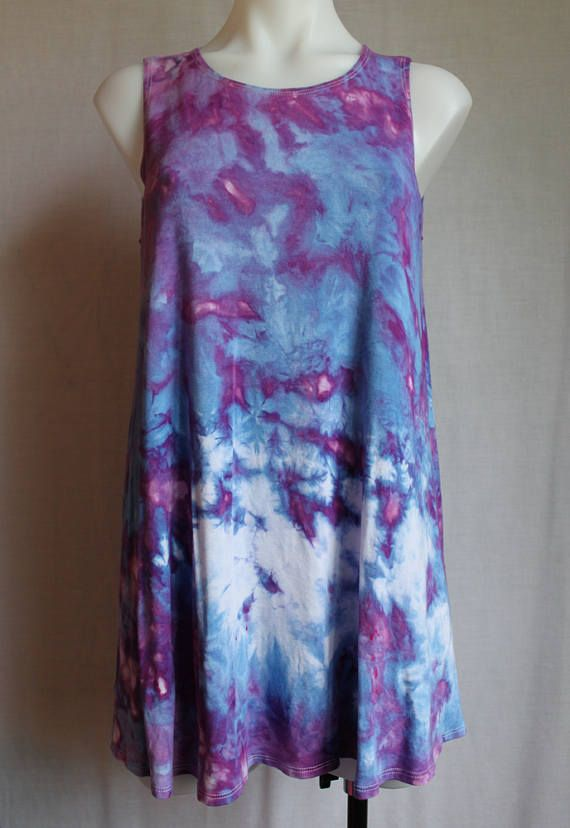 $50 - Tie dye sleeveless tunic ice dye  Find this item on https://www.etsy.com/shop/ASPOONFULOFCOLORS?ref=hdr_shop_menu