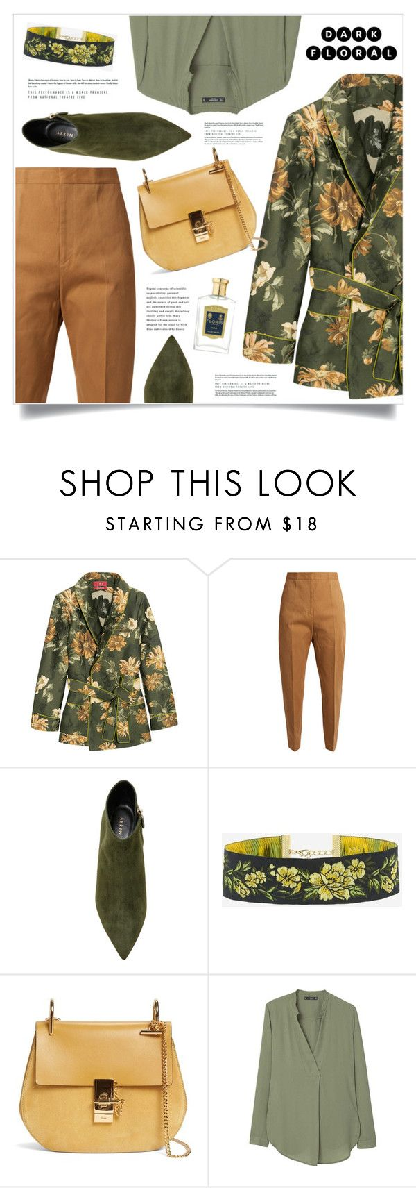 """In Bloom: Dark Florals"" by marina-volaric ❤ liked on Polyvore featuring F.R.S For Restless Sleepers, Jil Sander, AERIN, Chloé, MANGO, Floris and darkflowers"