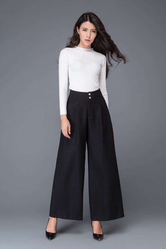 b3b42c24f84 Black wool pants