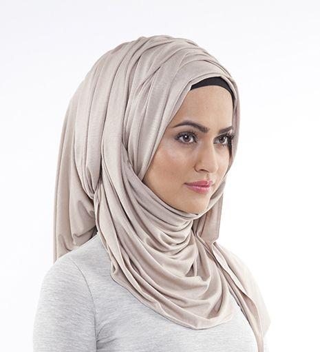 CREAM MAXI JERSEY HIJAB - £12.95 : Inayah, Islamic clothing & fashion, abayas, jilbabs, hijabs, jalabiyas & hijab pins