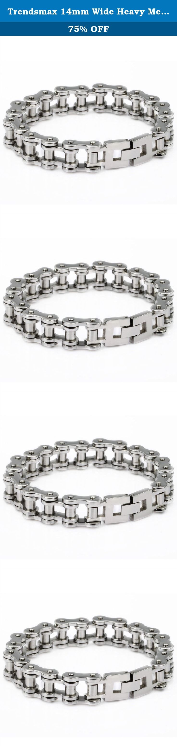 Trendsmax 14mm Wide Heavy Mens Boys Biker Jewelry Motorcycle Chain 316L Stainless Steel Bracelet. Trendsmax 14mm Wide Heavy Mens Jewelry Boys Biker Jewelry Motorcycle Chain 316L Stainless Steel Bracelet,Material is 316L Stainless Steel,High Quanlity! Fashion Bracelet.Perfect Gift for Father's Day, Christmas Gift.
