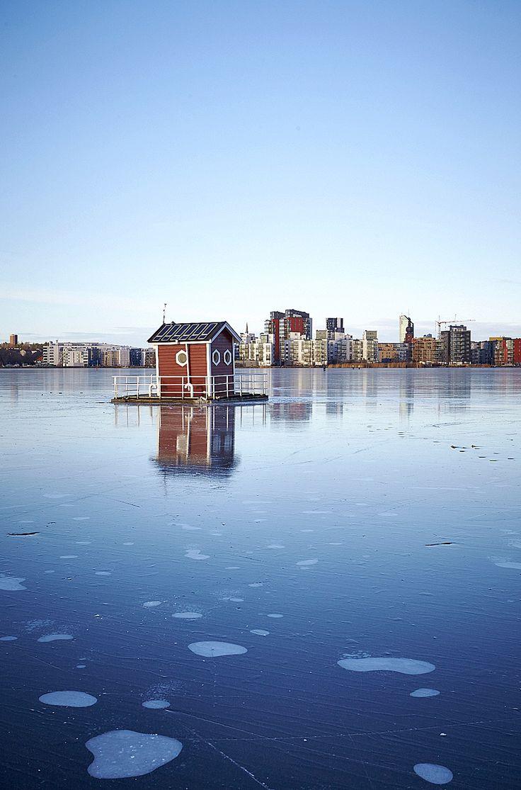 150105-210, Utter In Västerås, vinter, Mälaren, is
