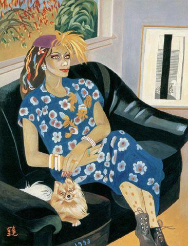 (Korea) Woman from Baltimore by Chun Kyung-ja (1924-2015). 천경자. 볼티모어에서 온 여인.