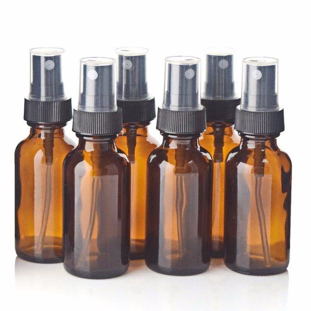 6pcs 1oz 30ml Amber Glass Spray Bottle W Black Fine Mist Sprayer Refillable Essential Oil Bottles Empty Cosmetic Contain Fine Mist Sprayer Spray Bottle Bottle