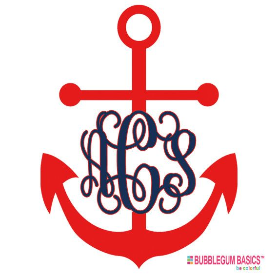 Best Car Decals Images On Pinterest Car Window Decals Car - Monogram car decal anchor