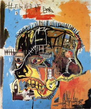 Untitled(Skull),1984, painted by the late, great Jean-Michel Basquiat. Started as a grafitti artist, but later became an acclaimed neo-expressionist and primitivist painter. The great works of art he would have produced, were he still alive, i can only wonder.