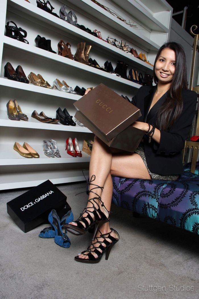 From The PS BANANAS #Minneapolis #fashionblog: #YSL Velvet lace/wrap-up shoes, #Tibi #sequin #miniskirt, #Armani #Blazer