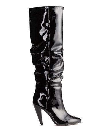 Patent Boots | Black | Ladies | H&M US