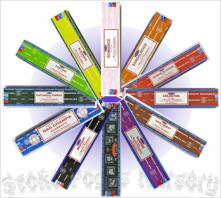 Mixed Pack - Satya Nag Champa 12 x 15g Incense Sticks  / ALL SCENTS! (in two mixed packs) – £10.99