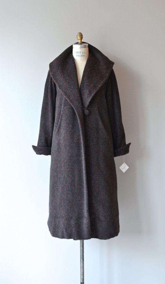 Wealdstone coat vintage 1950s coat wool 50s coat by DearGolden
