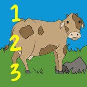 """sär Fsk F - 3 Räkna djur - enkel app med svenskt tal Öva på att räkna från noll till nio i appen """"Räkna djur""""  """"Räkna djur"""" är en riktigt enkel app där man kan öva på att räkna, har svenskt tal. I appen finns två olika typer av övningar som varieras på olika sätt. I den ena övningen säger en röst """"Dra 7 åsnor till gräsmattan"""". Instruktionen finns även i skriven text. Har man dragit fel antal får man börja om från början. Gör man rätt får man höra hur djuret ifråga låter. Borgholm"""