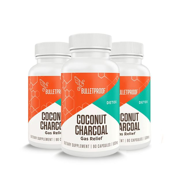 Bulletproof Upgraded Coconut Charcoal provides ultra fine grains and highly purified charcoal in order to remove excess toxins.