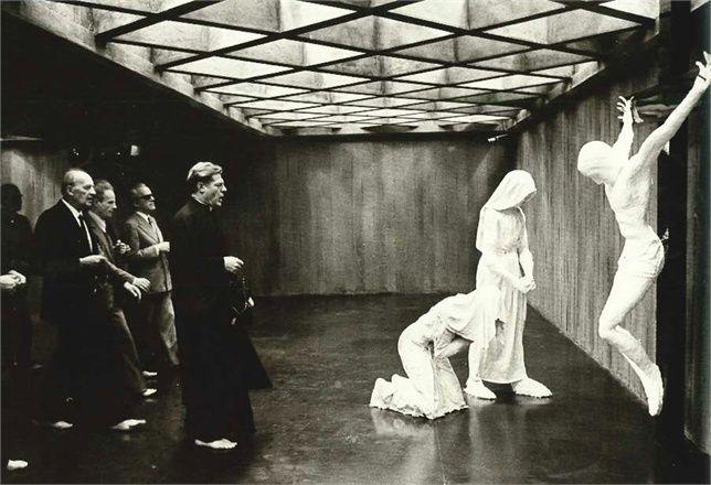 Todo Modo, an Elio Petri's film. Set design: Dante Ferretti. 1977