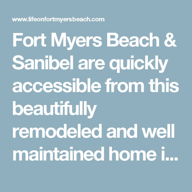 Fort Myers Beach & Sanibel are quickly accessible from this beautifully remodeled and well maintained home in Iona Shores. Brand new spacious kitchen with white soft-close shaker style cabinetry and granite counter tops. Stainless steel appliances include Bosch range, vented hood fan, under counter microwave, dishwasher, and french door fridge with freezer drawer. Updated bathrooms, flooring, light fixtures and fans. Roof new in 2009, entire new 16 SEER rated HVAC system in 2011 which…