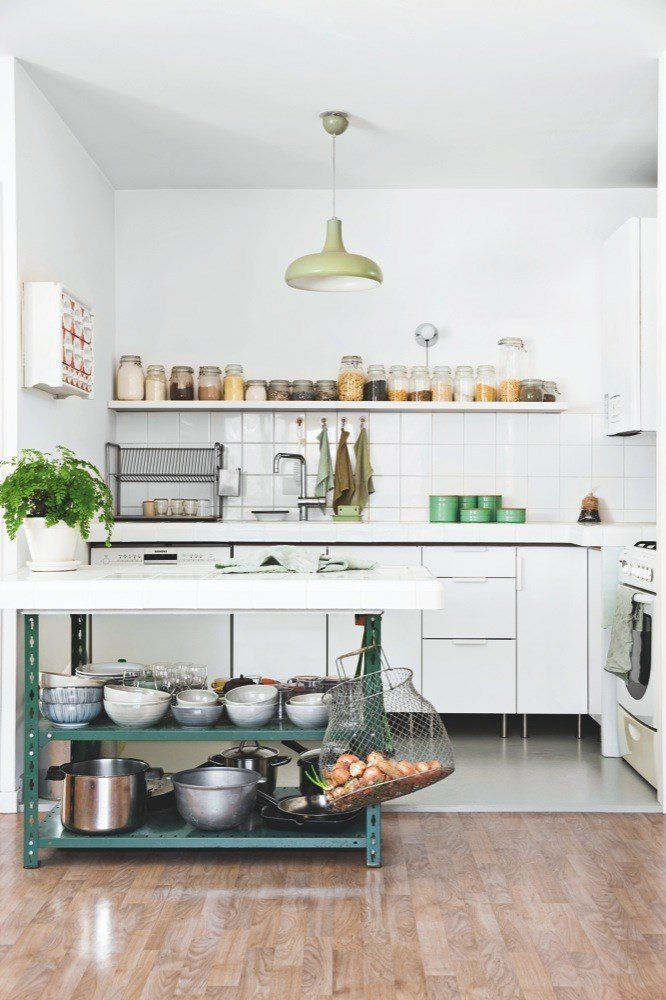 Obsessed with white kitchens! Those jars are fairly inexpensive when you buy them by the case. Love it!!