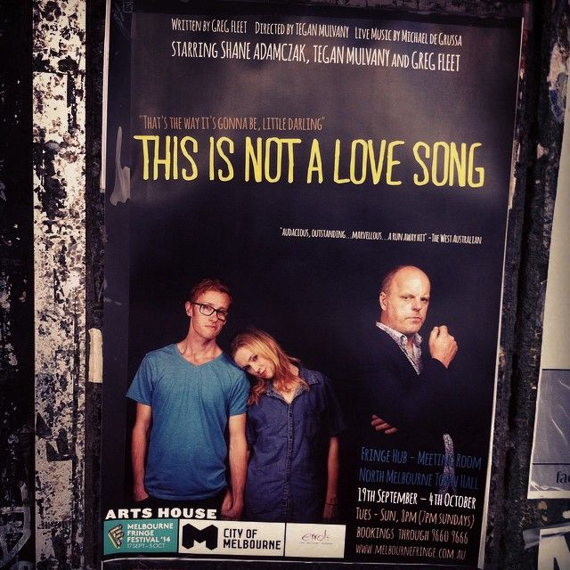 """@shaneadamczak's photo: """"#ThisIsNotALoveSong returns to The North Melbourne Town Hall tonight at 8pm in the #Mfringe. Come check it out!"""""""