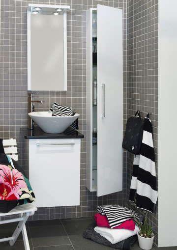 Sisustus - kylpyhuone - wc - kapeat kalusteet pieneen tilaan
