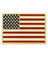 PinMart's Gold Plated Made in USA Rectangle American Flag Enamel Lapel Pin - $22.99