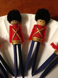 Clothespin Soldier Ornaments – and other trash to treasures