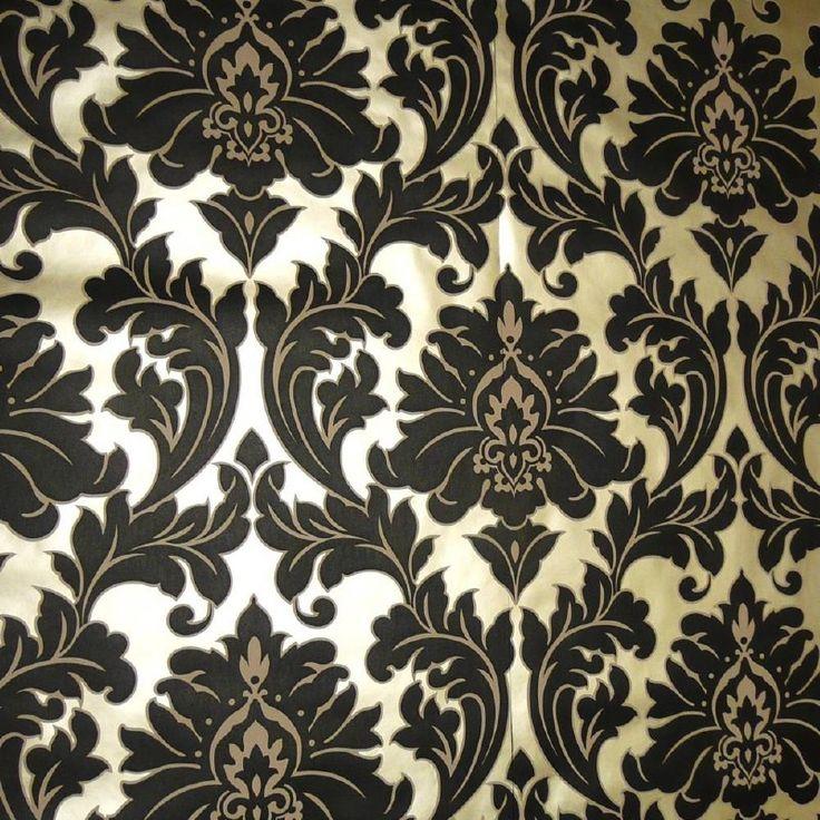 zwart barok vlies  behang 30-419