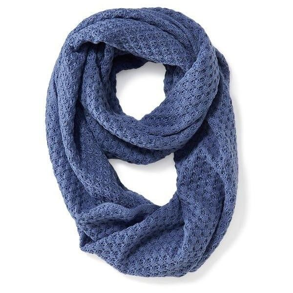 navy womens open weave infinity scarf 17 liked on