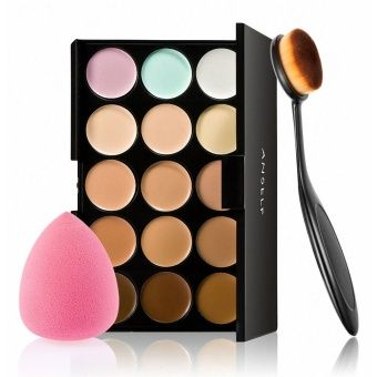Buy Anself 15 Colors Make Up Cream Facial Camouflage Concealer Make Up Palette with Sponge Puff Oval Makeup Brush for Cosmetic Foundation Powder online at Lazada. Discount prices and promotional sale on all. Free Shipping.