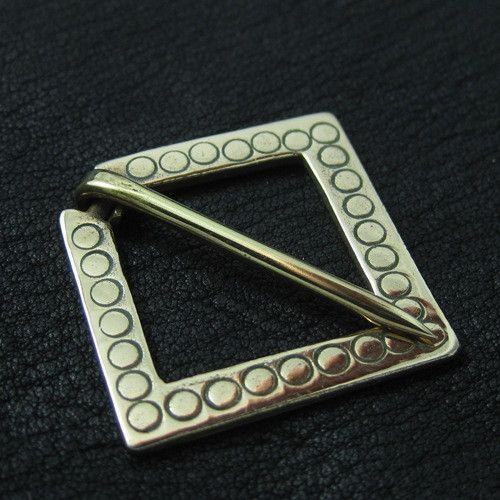 Bronze medieval square pin from The Sunken City by DaWanda.com