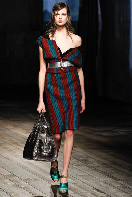 Prada Fall 2013. Hinting at 90s grunge sweaters, but new take! Draping to reminisce, but pieces not