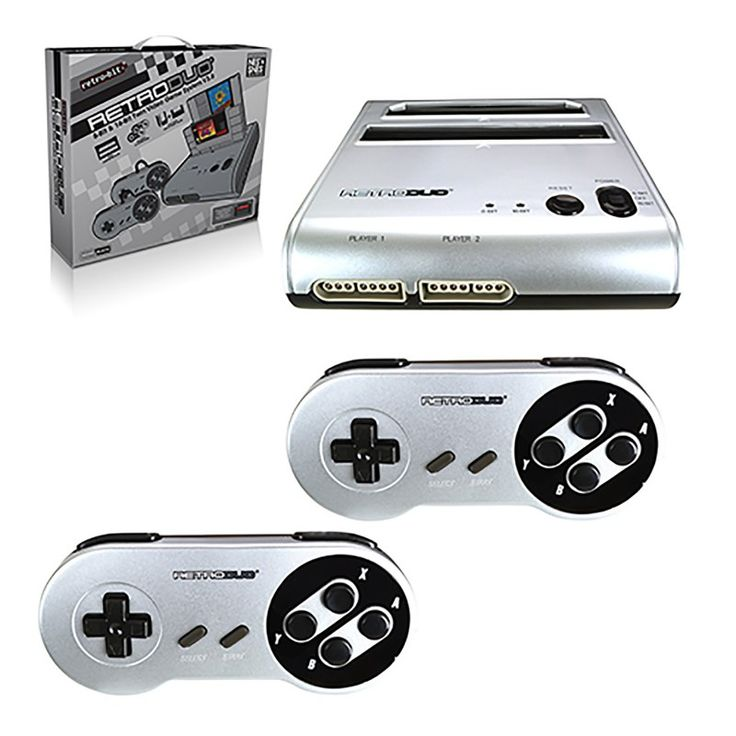 RetroDuo SNES & NES Dual 2in1 System Game Console https://www.retrogamingstores.com/gaming-accessories/retro-duo-silver-black-edition-snes-nes-system-retroduo-version-3-0  This set accepts all 16-bit controllers and accepts most NES and SNES games.