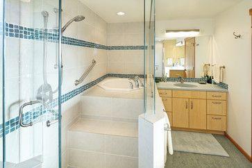 Ofuro tub in shower
