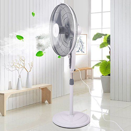 """Home Office Air Cooling 3 Speed Adjustable Stand Manual Control Timer 18"""" New #AirCoolingPedestalFan3Speed"""
